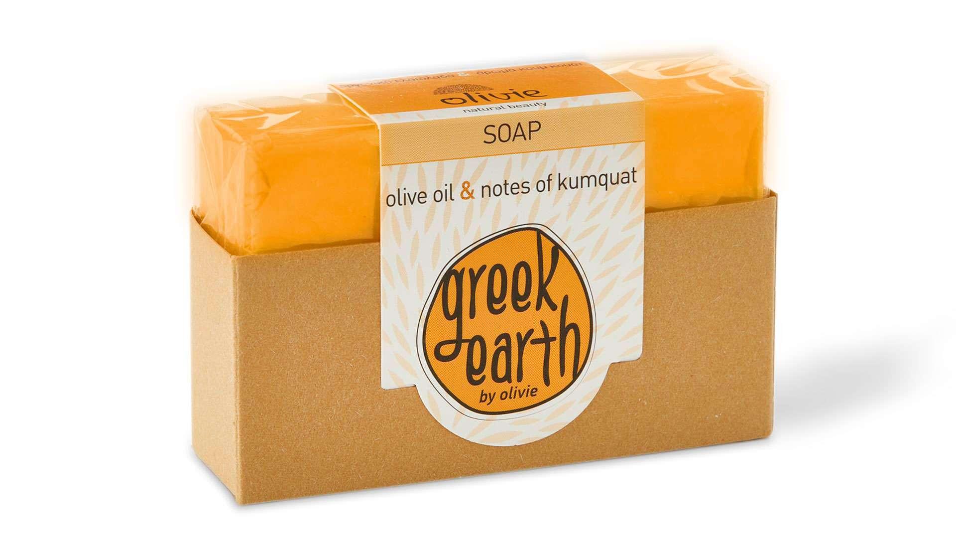 ORANGE GREEK EARTH SOAP